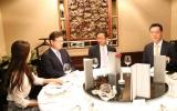 งานเลี้ยงรับรอง นายชอย ยาง ฮี รัฐมนตรีว่าการกระทรวงวิทยาศาสตร์ ไอซีที และการวางแผนอนาคตแห่งสาธารณรัฐเกาหลี เนื่องในโอกาสให้เกียรติเป็นวิทยากรถ่ายทอดความรู้เรื่องธุรกิจสตาร์ทอัพ