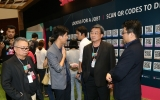 ปลัด ก.วิทย์ฯ เยี่ยมชม ผู้ประกอบการสตาร์ทอัพ  พร้อมให้สัมภาษณ์สื่อมวลชน ภายในงาน Startup Thailand 2016