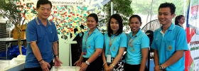 รางวัลที่ 1 (พัดลมไอเย็น) ของรางวัลประจำสัปดาห์ที่ 2 ในงานนวัตกรรมและเทคโนโลยีไทยเพื่อ SMEs